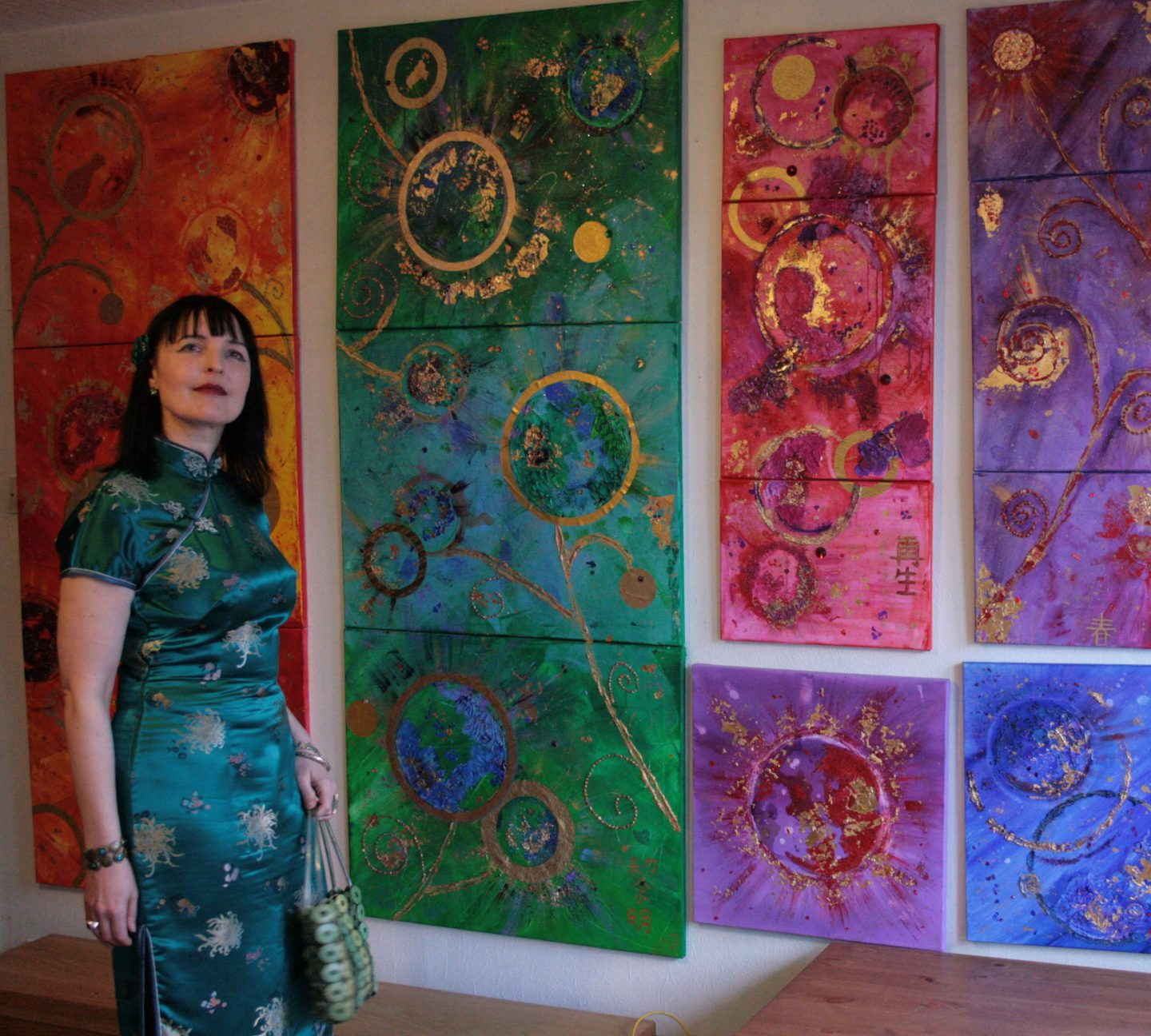 Artist persona: Emerald Dunne Art and her paintings photographed by Mimi Galore.