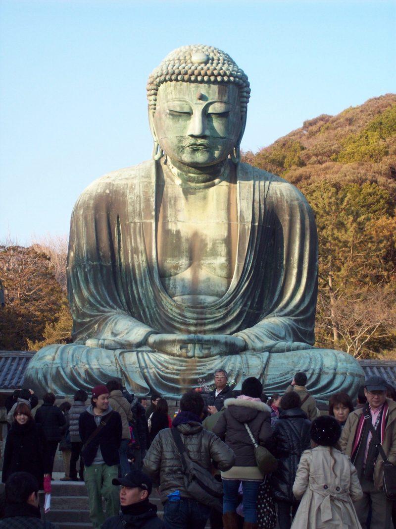 Daibutsu Buddha Kamakura Japan front view