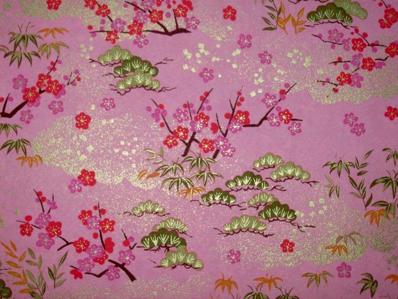 chiyogami pink red sakura gold stunning