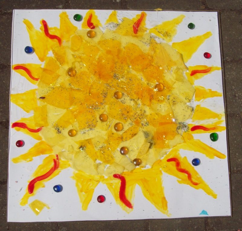 kids art workshop school sun collage