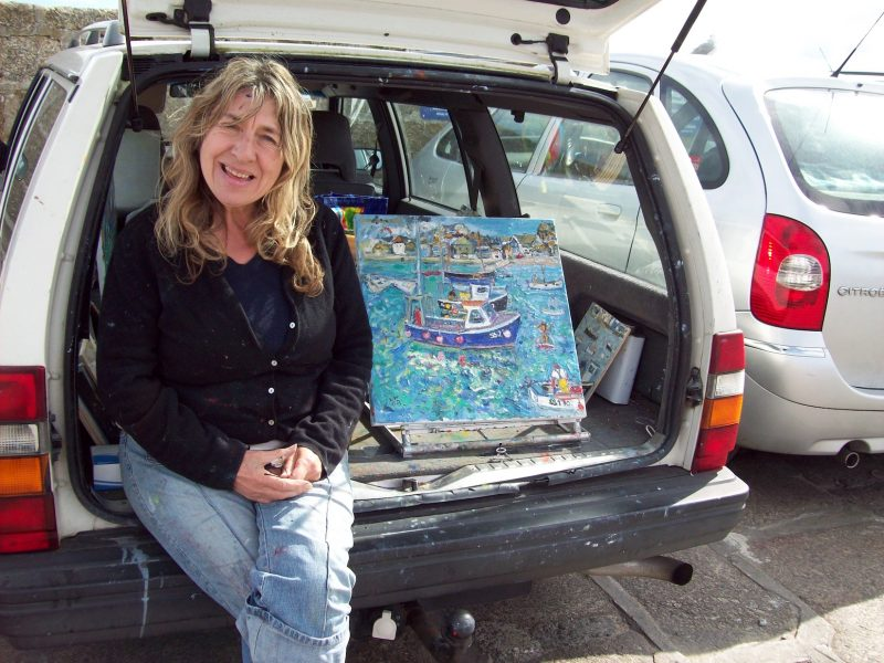 Lovely artist lady St Ives Cornwall.