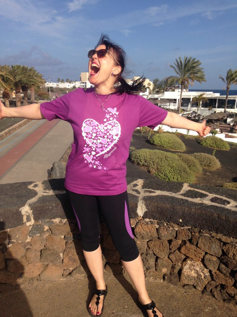 Purple t-shirt from Lanzarote, Costa Teguise.