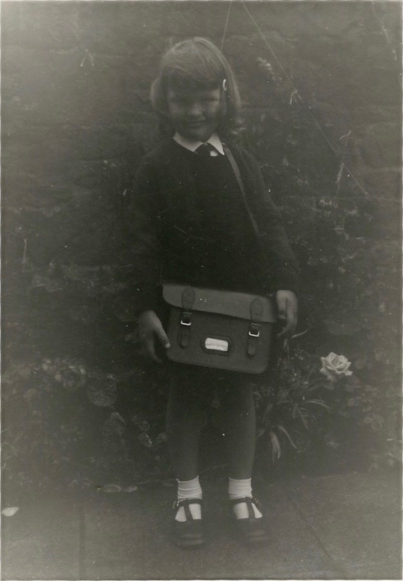 Back to school in P1, Law Primary, North Berwick, Scotland. My first day.