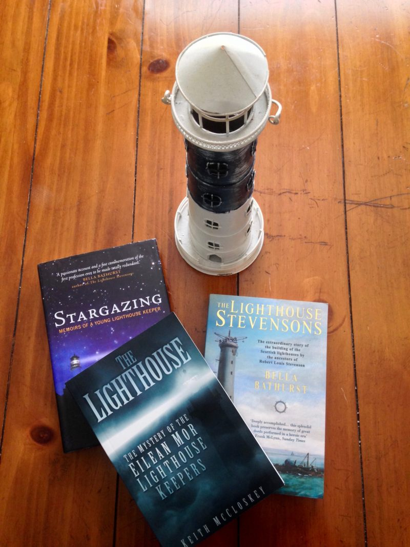 Lighthouse books by Peter Hill, Bella Bathurst and Keith McCloskey.