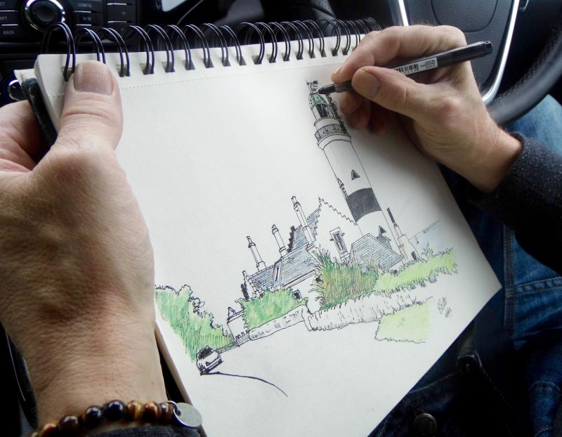 Cloch lighthouse Stephen Scott Glasgow artist
