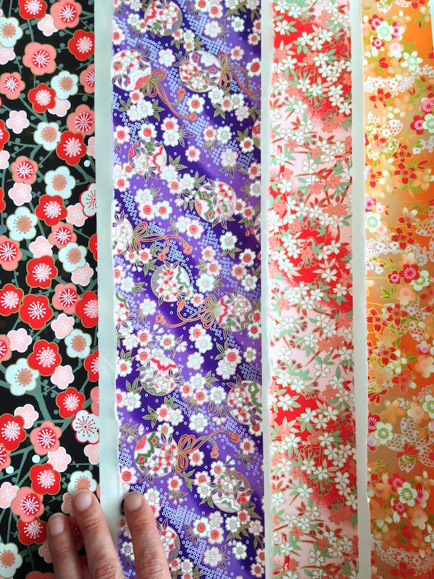 Chiyogami paper from the Rare Orchid website.