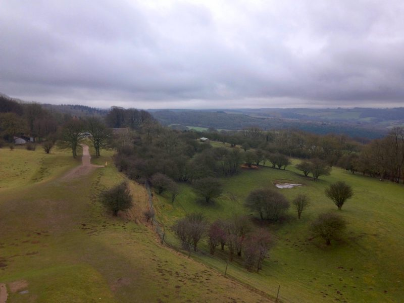 Winter view from Broadway Tower, Cotswolds.