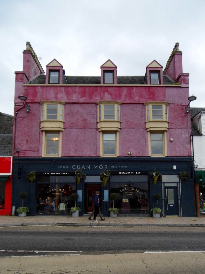 Architecture in Oban, Scotland: Cuan Mor restaurant.