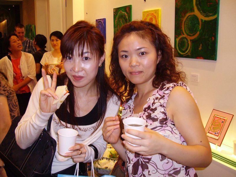 Emerald Dunne's exhibition in Japan, Art de Art gallery, Takatsuki in 2007.