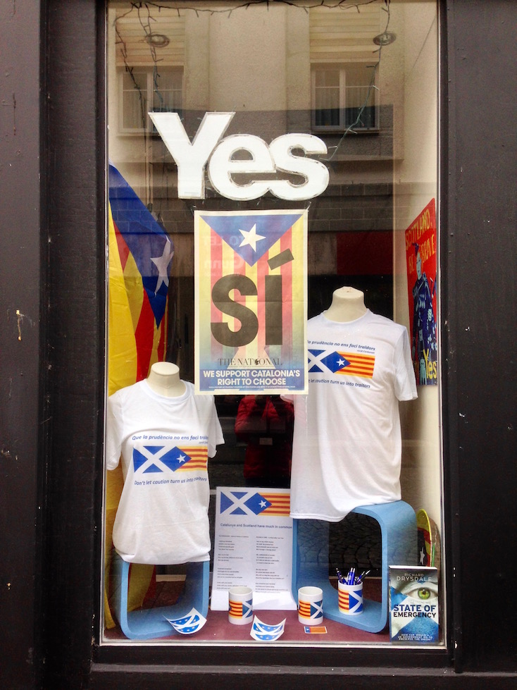 Window of Aye 2 Aye shop in Fort William, Scottish Highlands.