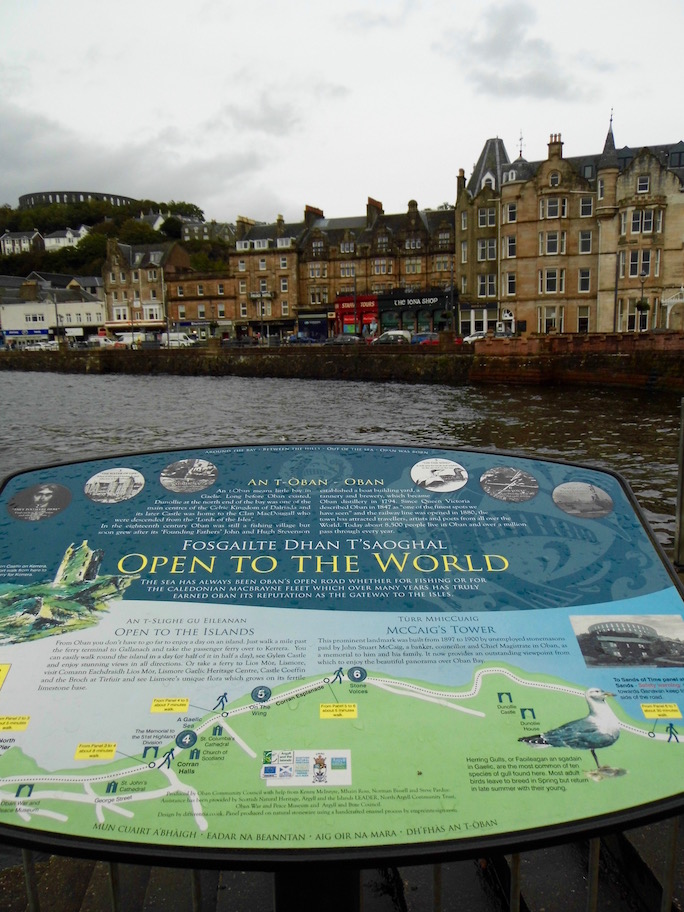 Oban tourist information sign.