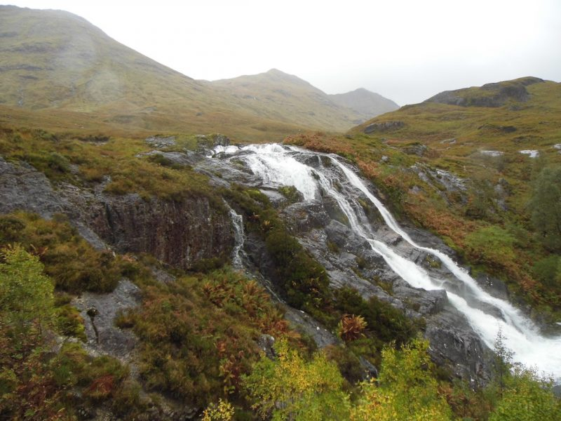 Waterfall at Glencoe, Scottish Highlands.