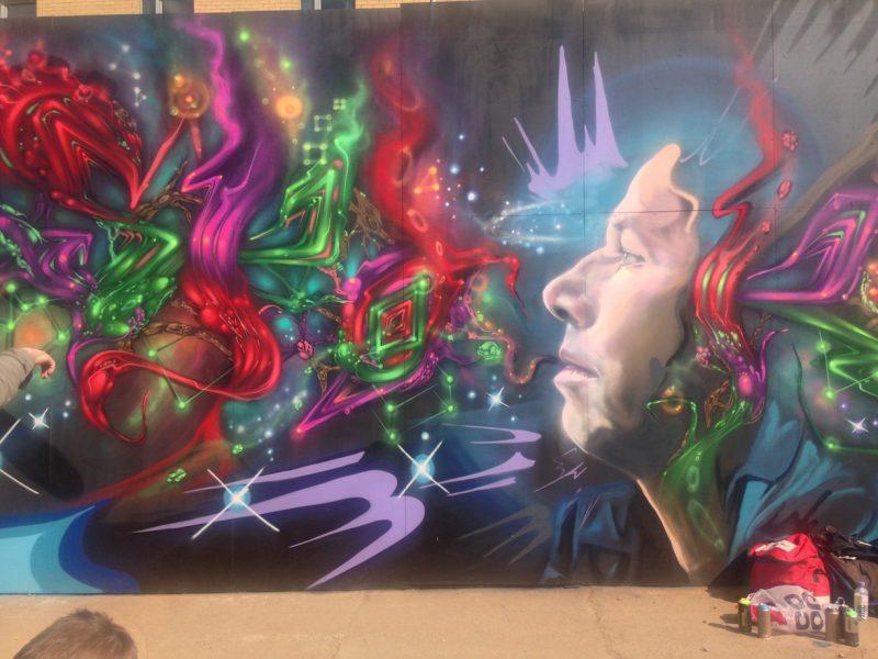 Street art at Yard Works festival SWG3, Glasgow 2017.