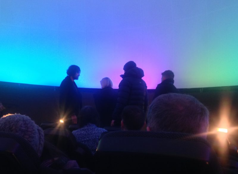 Glasgow Science Centre Planetarium - just waiting for the show.