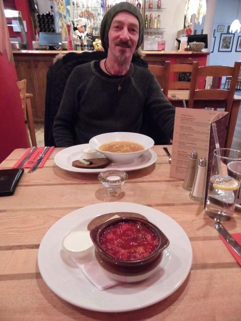 January 2018: Cafe Cossachok, Glasgow