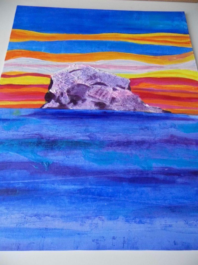 Work-in-progress by Emerald Dunne Art.