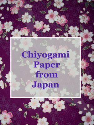 Chiyogami paper from Japan: Inspiration for my work by Glasgow artist Emerald Dunne.