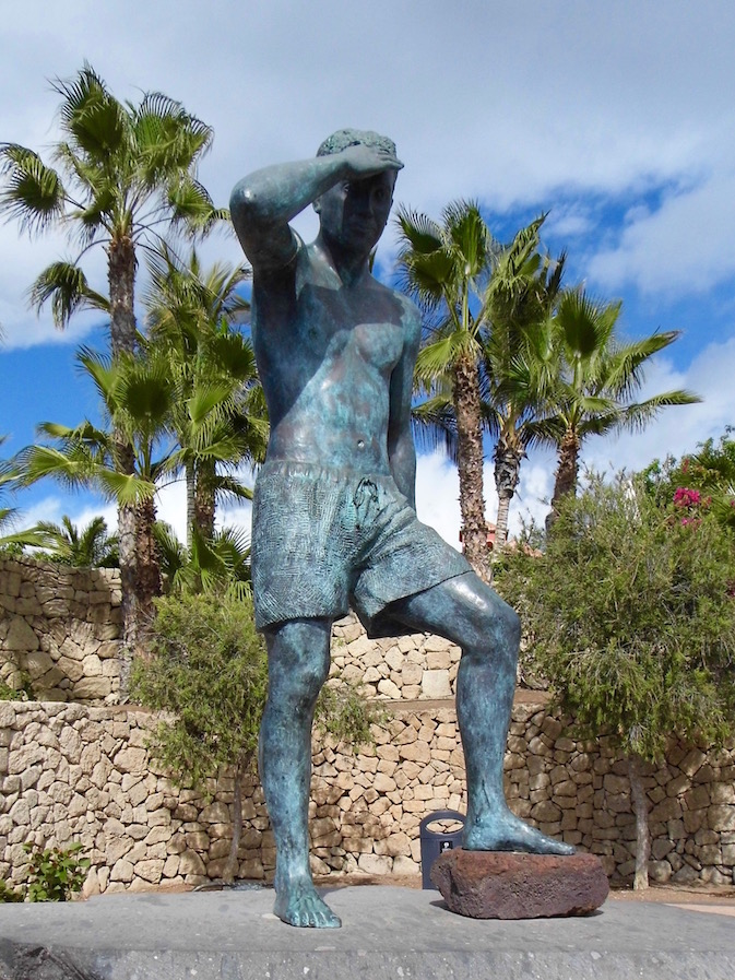 Statue on Playa de Duque, Costa Adeje, Tenerife.