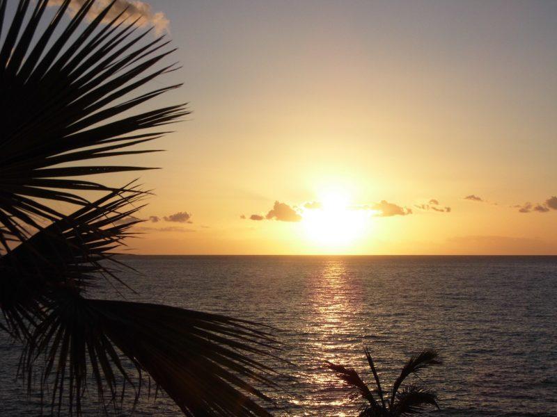Sunset on the Costa Adeje, Tenerife.