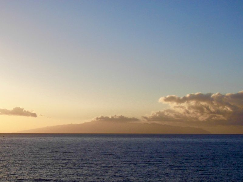 View of la Gomera from Costa Adeje, Tenerife.