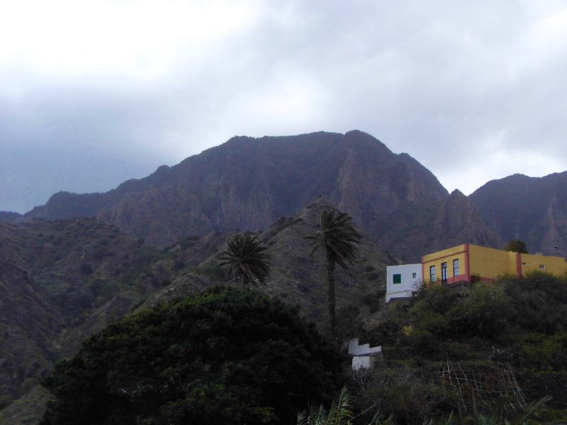 Landscape of la Gomera, Canary Islands.