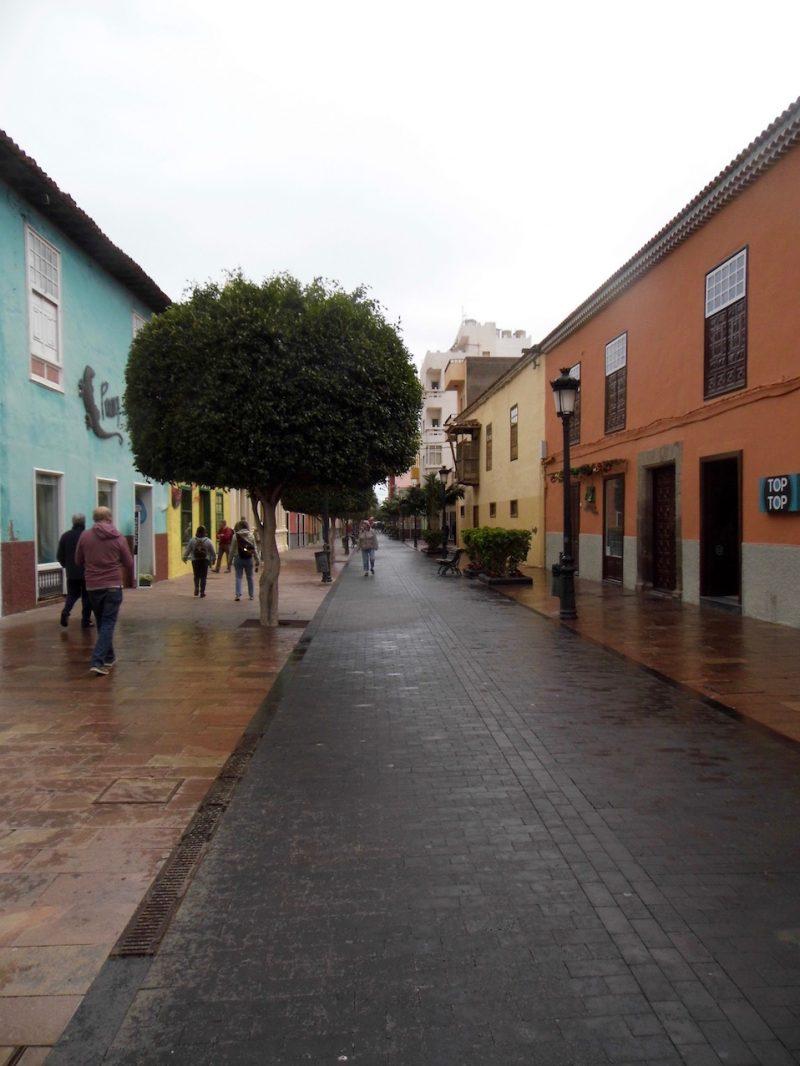 San Sebastian street scene, la Gomera, Canary islands.