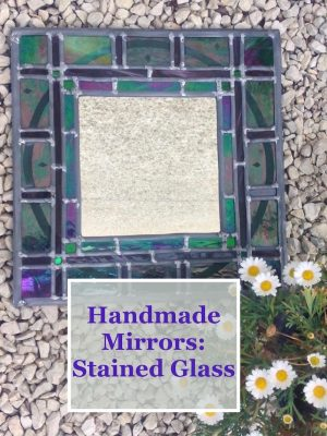 Handmade mirrors in stained glass by Emerald Dunne.