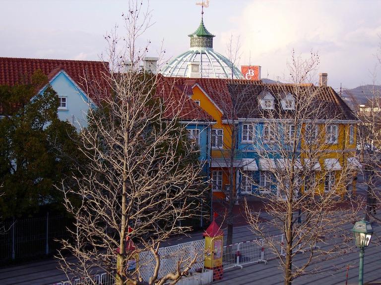 Buildings in former Tivoli Gardens, Kurashiki, Japan.