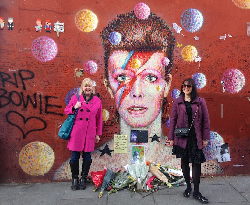 Art and music: David Bowie mural in Brixton, South London.