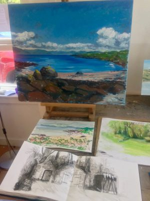Artist date on Millport island, May 2018: The Studio Gallery Plein Air Weekend.