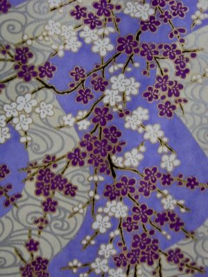 Lilac, purple, white and gold chiyogami paper from The Rare Orchid store, USA. Beautiful papers I will use in my art.