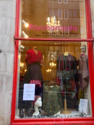 Psychomoda boutique, St. Mary's Street, Edinburgh, Scotland.
