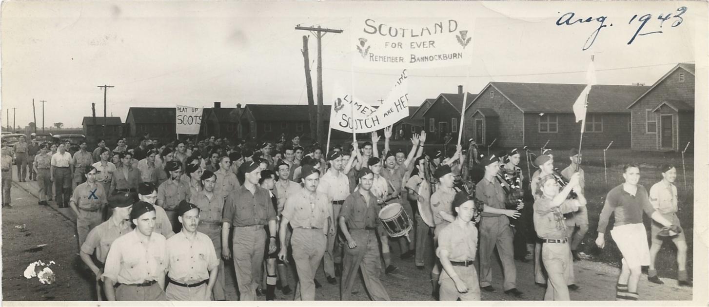 Old family photos: Canada 1943 - war time friendly football match Scotland v England.
