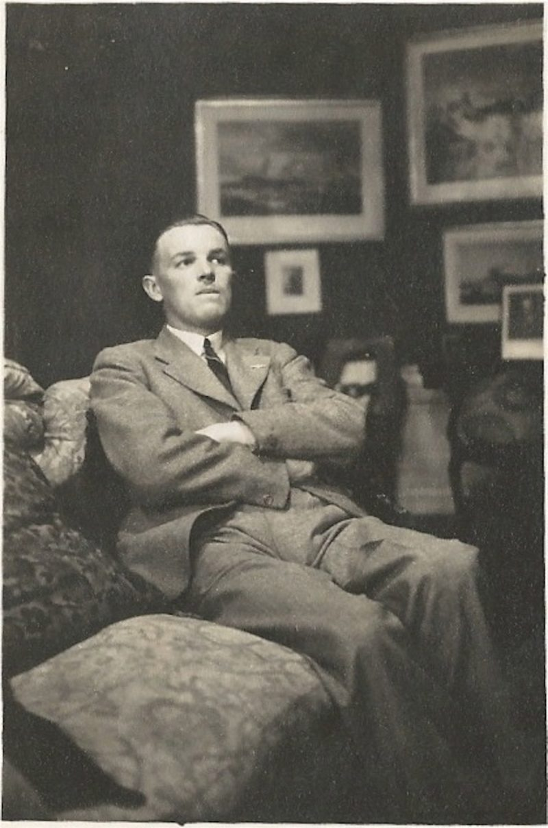 Old family photos in black and white from Stars & Stems blog by Emerald Dunne Art: Granddad Harry H in the late 1930s.