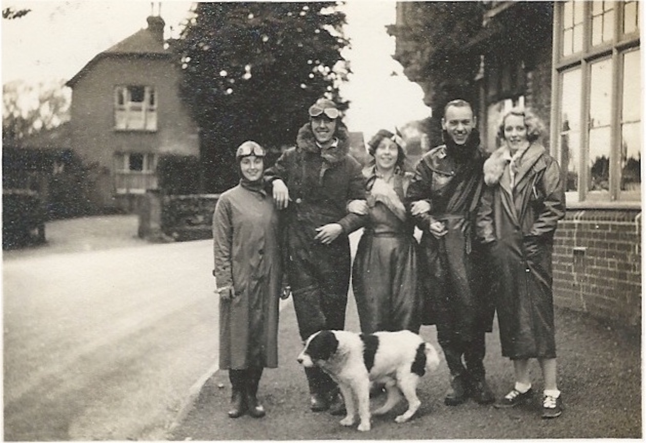 Old family photos: Granny Pip and her motorbiking friends, 1930s.