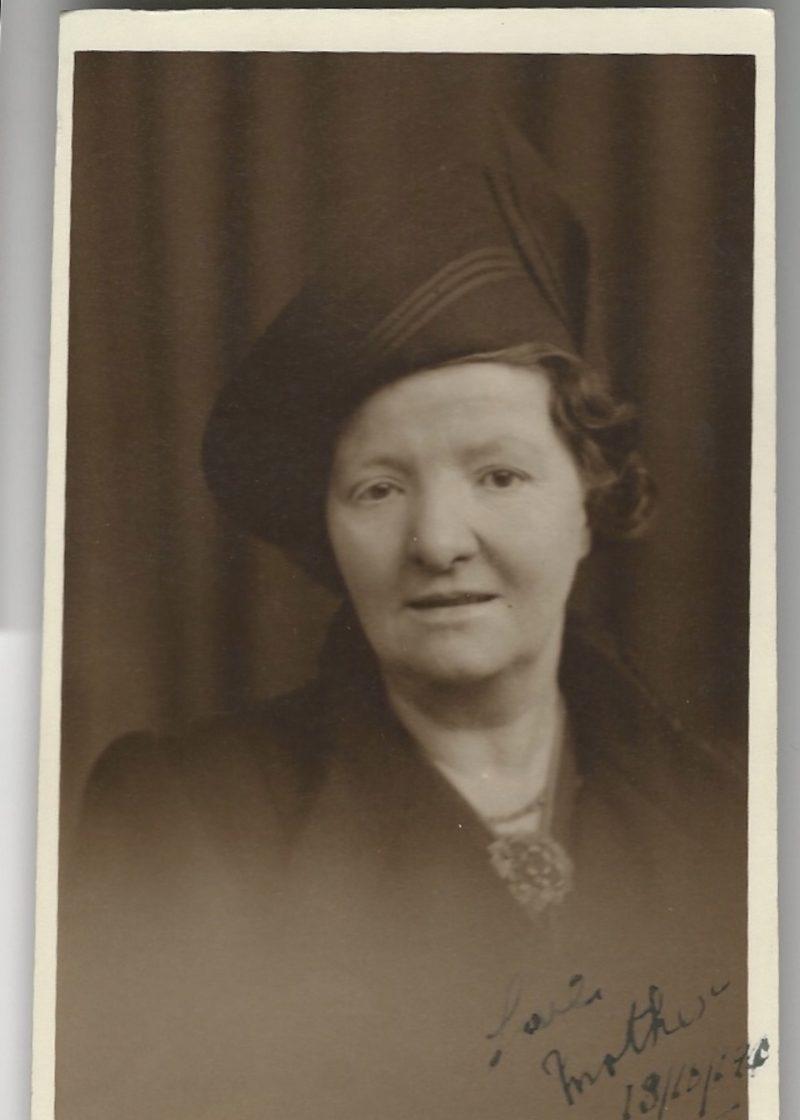 Old family photos: Great Gran, my maternal granddad's mother Effie Stewart Haston, Edinburgh 1940.