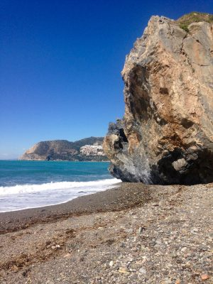 Secret beach in La Herradura, Spain.