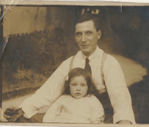 Old family photos: Granny Pip and her dad William Jordan at their home in Wellington, Surrey around 1914. Stars and Stems blog by Glasgow artist Emerald Dunne.