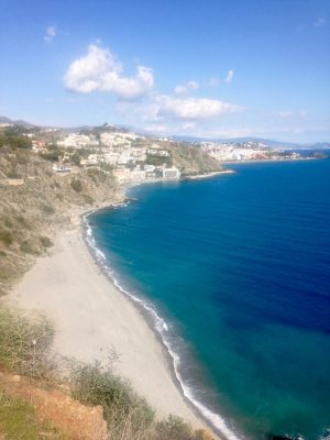 La Herradura to Almuñécar, Andalusia, Spain. Walk along the coast.