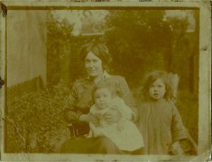 Old family photos: Granny Pip as a child with her mum and baby brother | Stars and Stems | Artist blogger Emerald Dunne