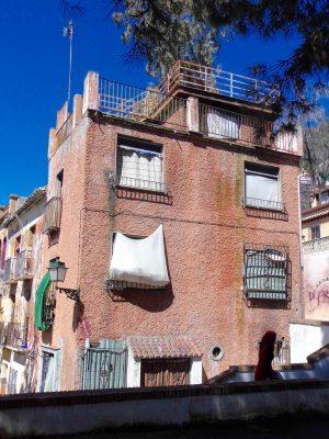Granada apartment building from Joe Strummer Square.