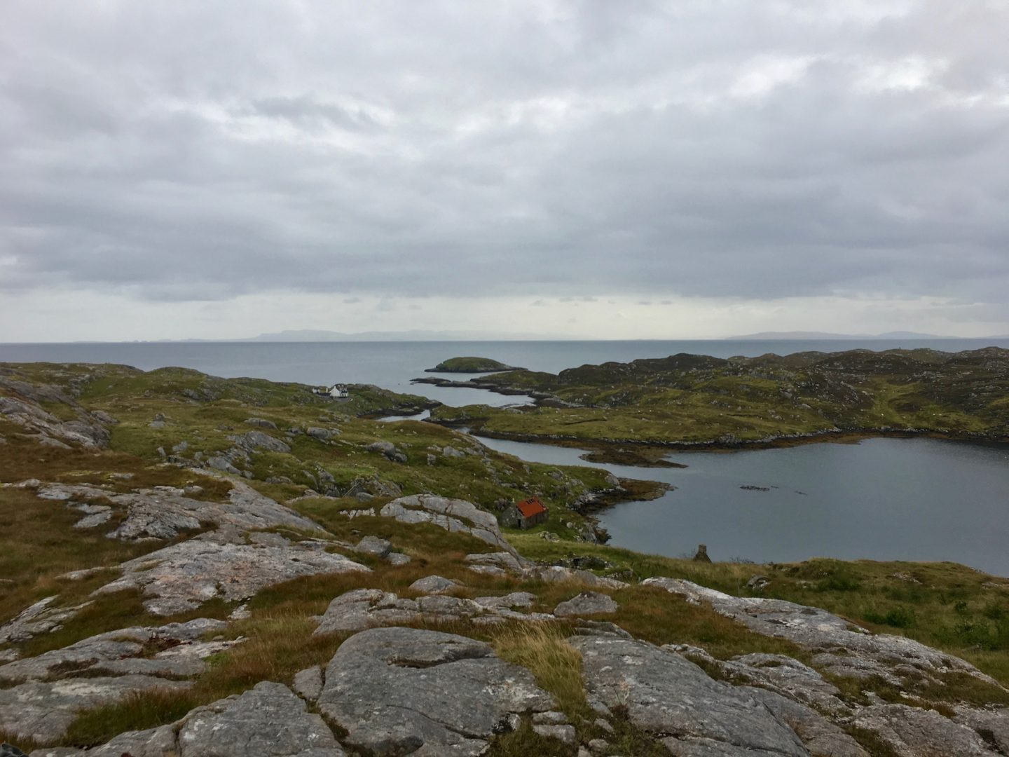 View towards Isle of Skye from the Golden Road, Harris